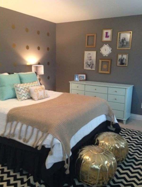 Slaapkamerdeur Ikea : Mint and Grey Bedroom